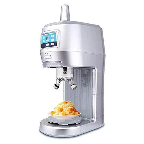 YFGQBCP 300W Pesado Hielo máquina de afeitar eléctrica de la máquina Afeitado Máquina de hielo encimera Smoothie automática Afeitado picadora de hielo de helado, bebidas frías, fruta de postre y cócte