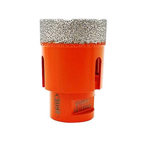 Dry Diamond Core Drill Bits,BGTEC 1pc 40mm Diamond Hole Saw with 5/8-11 Thread for Porcelain Tile,Ceramic Granite Marble Stone Masonry Brick