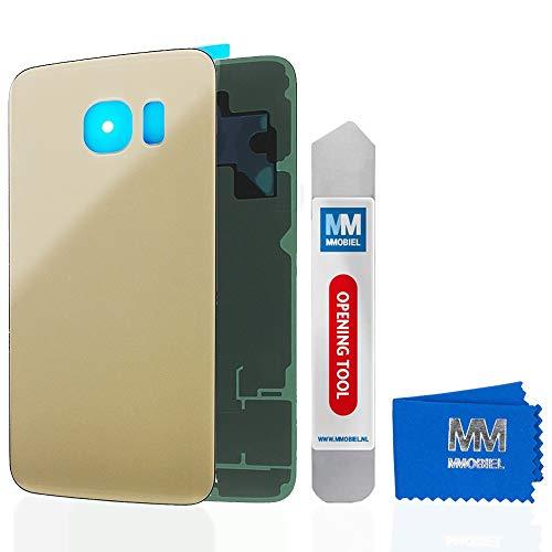 MMOBIEL Backcover Akkudeckel Rückseite Rück Klappe kompatibel mit Samsung Galaxy S6 G920 5.1 Inch (Gold)