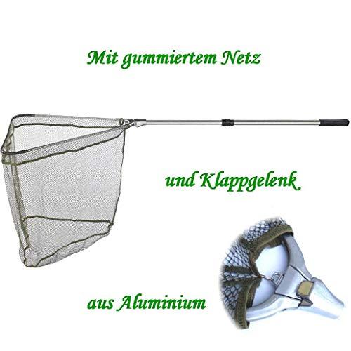 Balzer Kescher - Unterfangkescher Alu 1,80m 2-TLG 60 x 60cm Netz gummiert