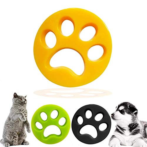 De.Zev 3 Stück Haustier Haarentferner, Ungiftig Wiederverwendung Fussel Tierhaarentferner, Tierhaarentferner Haustier für Wäsche, Tierhaarentferner für alle Haustiere, Katzenfell, Hundehaar