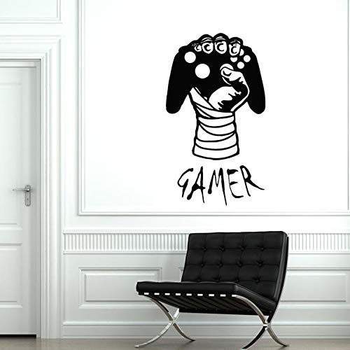 Player Wall Decal Game Joystick Computer Player Decal Kids boy Bedroom playroom Home Decoration Vinyl Wall Sticker Art