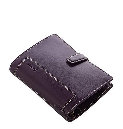 Filofax Holborn Pocket Purple Lila Terminplaner Leder A7 Agenda Organizer 025602