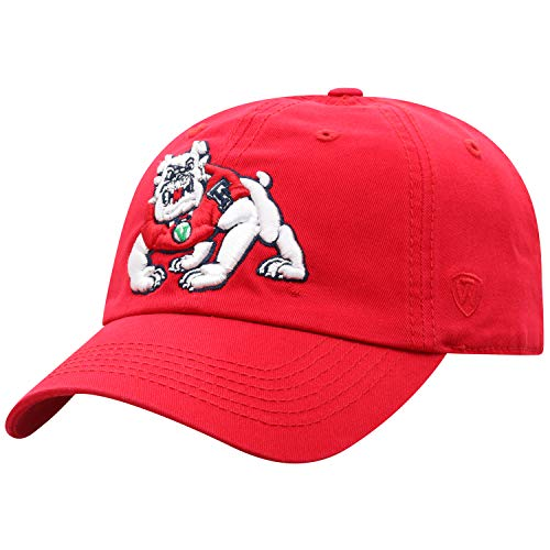Top of the World Fresno State Bulldogs Men's Relaxed Fit Adjustable Hat Team Color Primary Icon, Adjustable