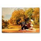 Premium Textil-Leinwand 90 x 60 cm Quer-Format Herbst im Elfenland | Wandbild, HD-Bild auf...