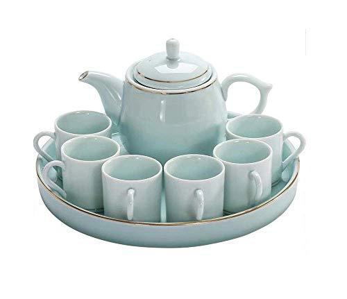 ShiSyan Tee-Set, Keramik, Vereinfachtes Chinesisch/Japanisch Kung Fu Tee mit Tee-Behälter Teeservice