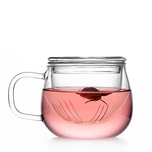 qwert Verre /Coupe de Bureau/ la Fleur Cup / Balconnet , Épaissir ,Cuvette de thé avec Le Filtre-C