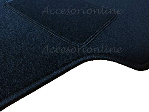 Accesorionline Alfombrillas para Honda Accord 2003-2008 - A Medida con talonera - Alfombras esterillas