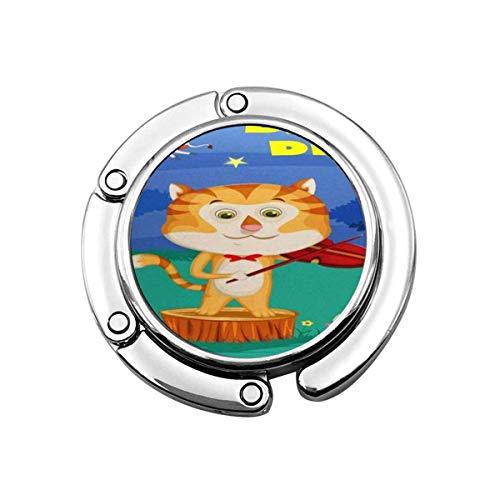 Faltbare Handtasche Kleiderbügel Geldbörse Haken, Katze Hey Diddle Kinder Englisch Kinderreime Buch In Geige Geschichte Gedicht