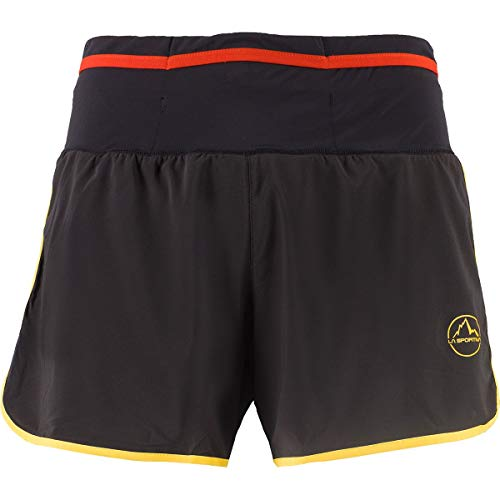 LA SPORTIVA Herren Tempo Shorts, Black-Yellow