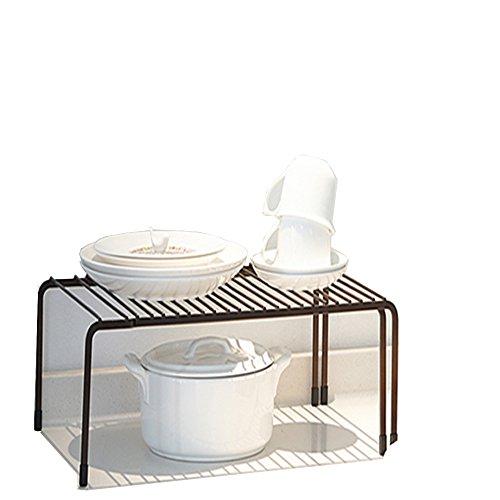 Zhongke Support de Rangement de Cuisine rétractable Unités Extensibles d'étagères Cuisine Bol Plat Simple Multi Couche Stockage Étagère à épices