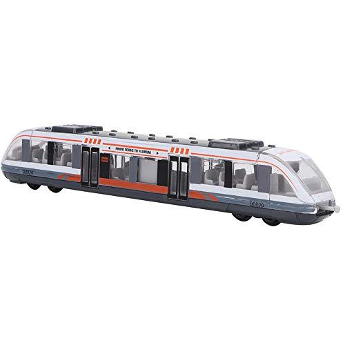 Zerodis Zug Spielzeug Simulation Metro Modell Alloy Sliding Diecast Metal Fahrzeuge Bildung kognitive Spielzeug Geburtstag 3 4 5 6 7 Jahre Kinder(weiß)
