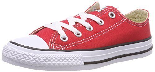 Converse Yths C/T All, Sneaker Unisex-Child, Rojo, 33.5 EU