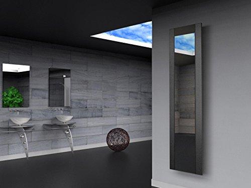 Badheizkörper Design Singapur 3, HxB: 180 x 47 cm, 1118 Watt, silber (metallic) / Spiegel (Marke: Szagato) Made in Germany/Bad und Wohnraum-Heizkörper (Mittelanschluss Spiegelglas, Echtglas)
