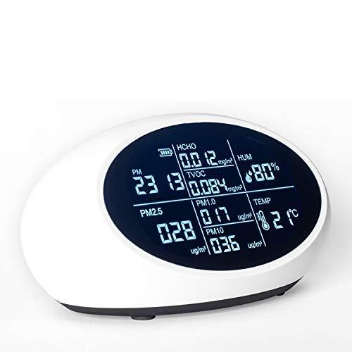 Formaldehyde Detector Air Quality Monitor Indoor Air Quality Monitor for Humidity,Temperature,PM2.5/PM10 HCHO TVOC Home Air Quality Test