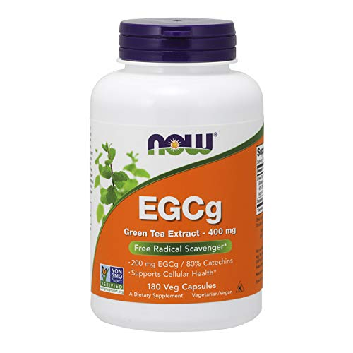 powerful NOW Supplement, EGCg Green Tea Extract, 400 mg, Radical Scavenger *, 180 Vegetarian Capsules