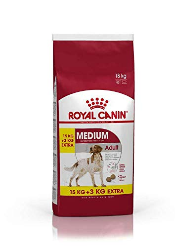 Royal Canin Medium Adult Dry Mix 15 kg + 3 kg Extra Free (Total 18 kg)