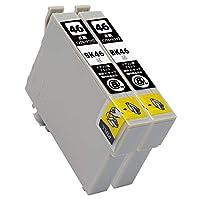 ICBK46(BK/ブラック)×2本セット [EPSON]エプソン 新互換インクカートリッジLED・残量表示付き (最新型ICチップ付き) 【A.I.S製品】