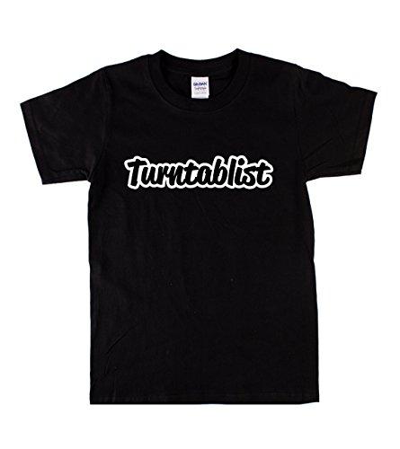 Guerrilla Threads Herren T-Shirt schwarz schwarz Gr. XL, black/white text