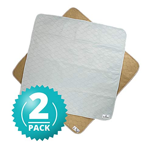 Pet Parents Washable Dog Pee Pads (2pack) of (41x41) Premium Pee Pads for Dogs, Waterproof Whelping Pads, Reusable Dog Training Pads, Quality Travel Pet Pee Pads. Modern Puppy Pads! (1 Tan & 1 Grey)