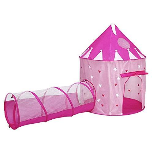 2-in-1 pop-up speeltent met tunnel, ballenbak voor kinderen, jongens, meisjes, baby's en peuters, indoor/outdoor speelhuisje, verjaardagstip voor kinderen