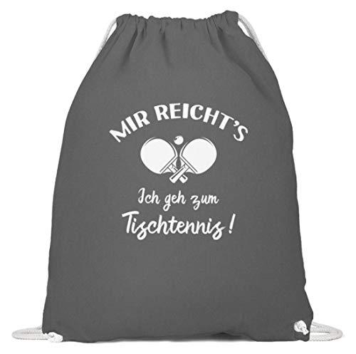 shirt-o-magic Tischtennisspieler: Ich geh zum Tischtennis! - Baumwoll Gymsac -37cm-46cm-Grafit Grau
