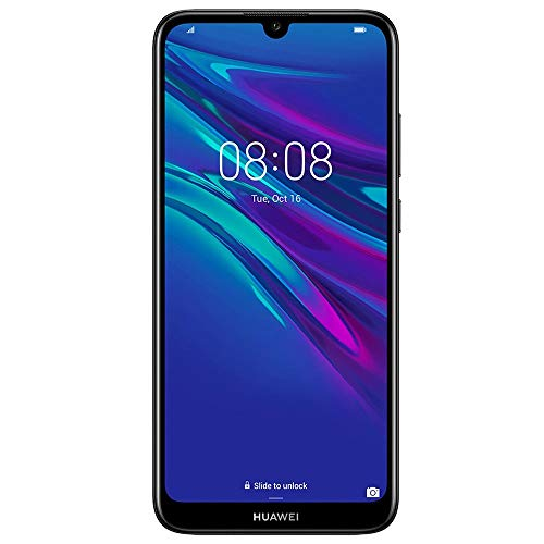 Huawei Y6 2019 MRD-LX3 6.09' Dewdrop Display 32GB 2GB RAM Dual SIM 13MP+ 8MP A-GPS Fingerprint Factory Unlocked No Warranty US (Black)