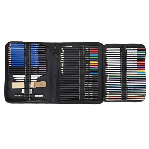 Juego de lápices de colores Herramienta de pintura profesional para adultos Papelería de dibujo + Bolsa de nailon 981g