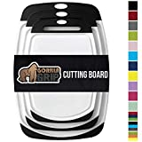 Gorilla Grip Original Oversized Cutting Board, 3 Piece, BPA Free, Dishwasher Safe, Juice Grooves, Larger...