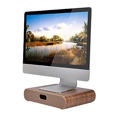 Samdi Wooden Computer Monitor Stand , Desktop Accessories , Laptop Stand , Notebook Stand , Macbook Stand