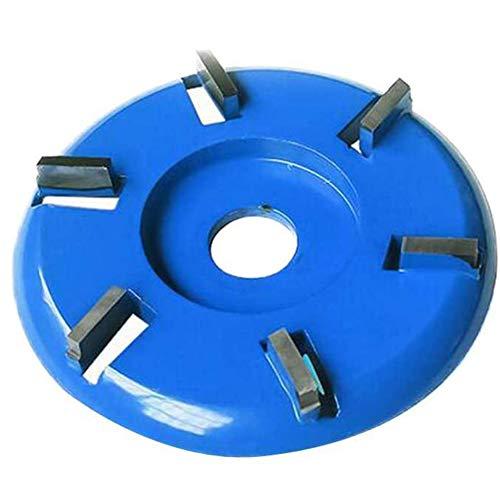 Ronde schijf met 6 tanden voor houten haakse slijper, boogpolijstmachine, handmatige slijpschijf, 22 mm binnendiameter, 90 mm buitendiameter, 5 mm groefdiepte, wolfraamstaallegering,Blue