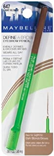 Maybelline New York Define-A-Brow Eyebrow Pencil 647 Light Blonde .001 OZ. (50 mg) (PACK OF 2)