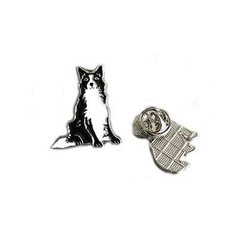 Lovely Pug Dog Brooch Pet Brooch Corsage Metal Pin Badge Dog ID Tags Christmas Birthday Gift 2PCS (Border Collie)