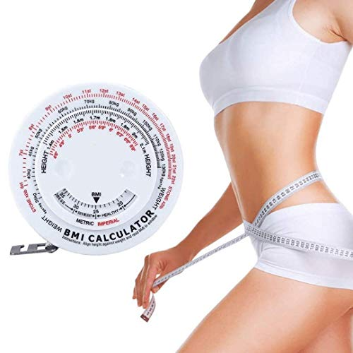 Orzel Cinta Metrica BMI para Medir Medida Corporal; Índice de Masa Corporal; Cinta Retráctil de 150 cm Calculadora de Medición; (Ideal para Dieta Y Pérdida de Peso) Herramienta Perfecta para un Registro Eficiente.