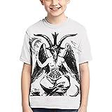 Changzixlaw Baphomet Lucifer Devil Boys Children Teen Tshirt Tee Casual Clothing Cool Tee Shirt Black