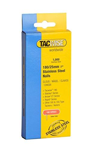Tacwise 1066 Clous 180/25 mm en Acier Inoxydable, Boîte de 1.000