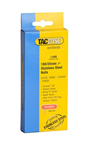 Tacwise 1066 Edelstahl-Nägel 180/25mm (1.000 Stück), 1000
