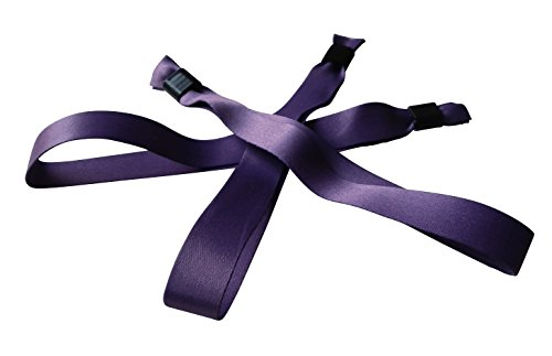 20 stoffen armbanden 15 x 350 mm - trendy kleur lila (violet - paars)