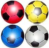 SourceDIY Lot de 12 ballons de football en PVC 22,5cm ou 21,6cm (dégonflé) Convient pour un usage intérieur et extérieur, pour l'école, les fêtes d'anniversaire, livré dans des couleurs assorties. De sourcediy., coloris assortis, 12 Balls