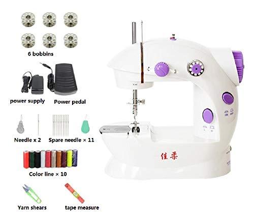YFOZCOM Máquina de Coser doméstica, Maquina de Coser compacta, Máquina de Coser mecánica,para Tela, Ropa, Viajes