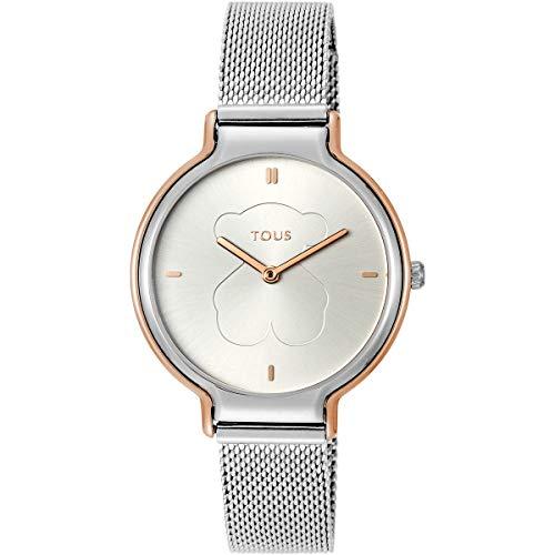 Tous Reloj Analógico para Mujer de Cuarzo con Correa en Acero Inoxidable 8431242947372