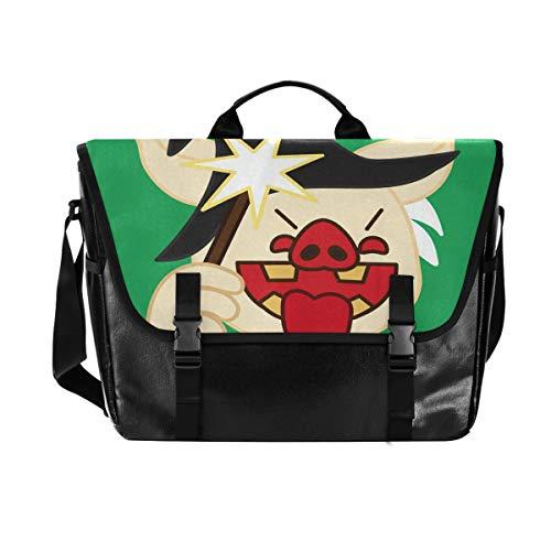 Magic Pig Schultertasche für Damen und Herren, aus Segeltuch, Retro-Stil, für iPad,...