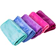 Nugilla Makeup Remover Cloth 5 Pack - Reusable Microfiber Cleansing Towel,Suitable for All Skin Types,Move Makeup Instantly,Multiple Colours
