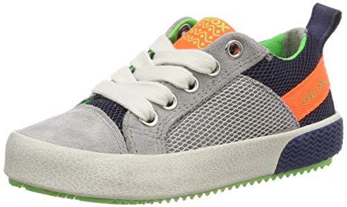 Geox Jungen J Alonisso Boy B Sneaker, Grau (Grey/Fluo Orange C1040), 29 EU