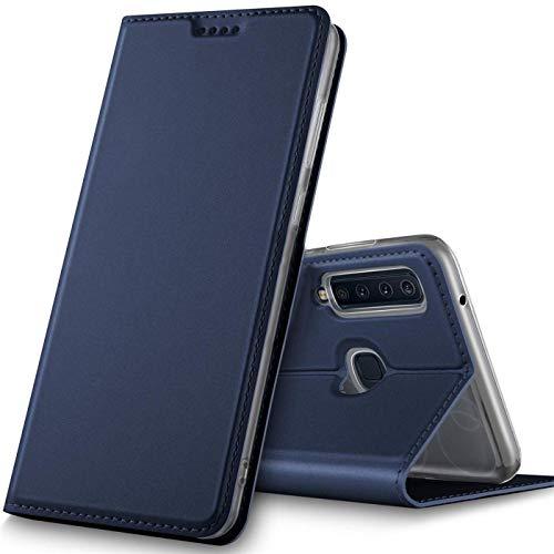 Verco Handyhülle für Galaxy A9 [2018], Premium Handy Flip Cover für Samsung Galaxy A9 Hülle [integr. Magnet] Book Hülle PU Leder Tasche, Blau