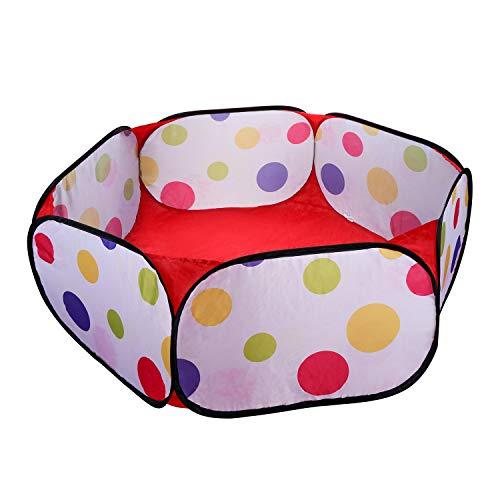 Coolty Draagbare Kleine Dieren Playpen Ademende Transparante Huisdier Cage Tent Pop Up Kids Ball Pit Ball Tent Outdoor Indoor Oefening Hek Yard Hek, Veelkleurig