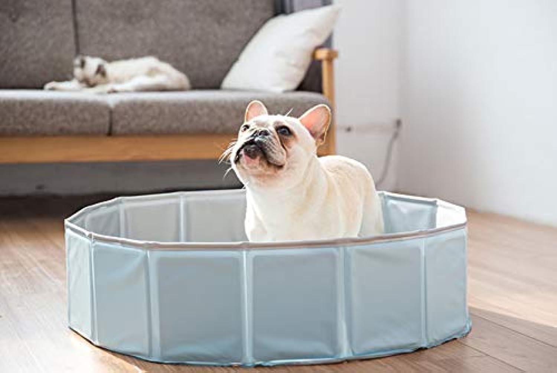 Hamaswan Dog Swimming Pool Dog Cat Bathing Pot Pet Foldable Bathtub Swimming Sky bluee 80  20Cm