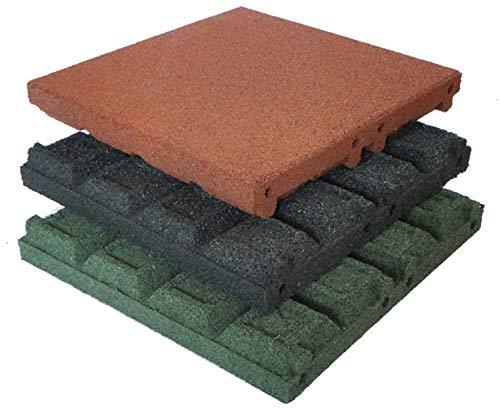 Gartenpirat Fallschutzmatten 50x50 cm Stärke 65 mm Farbe rot nach EN 1177:2008