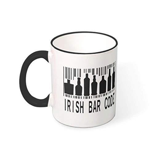 Lind88 St Patricks Water Cereal Cup met handvat Porselein Gepersonaliseerde Bekers - Heren aanwezig, pak voor familiegebruik (11 oz)