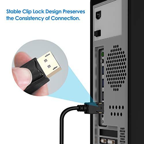 DisplayPort auf HDMI Kabel | Rankie Verbindungskabel DP auf HDMI, 4K Auflösung Kabel, 1,8 m, Schwarz - 3